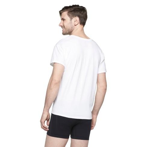 fd7dc0886 Hanes Men's 6pk V-Neck T-Shirts With Fresh IQ - White : Target