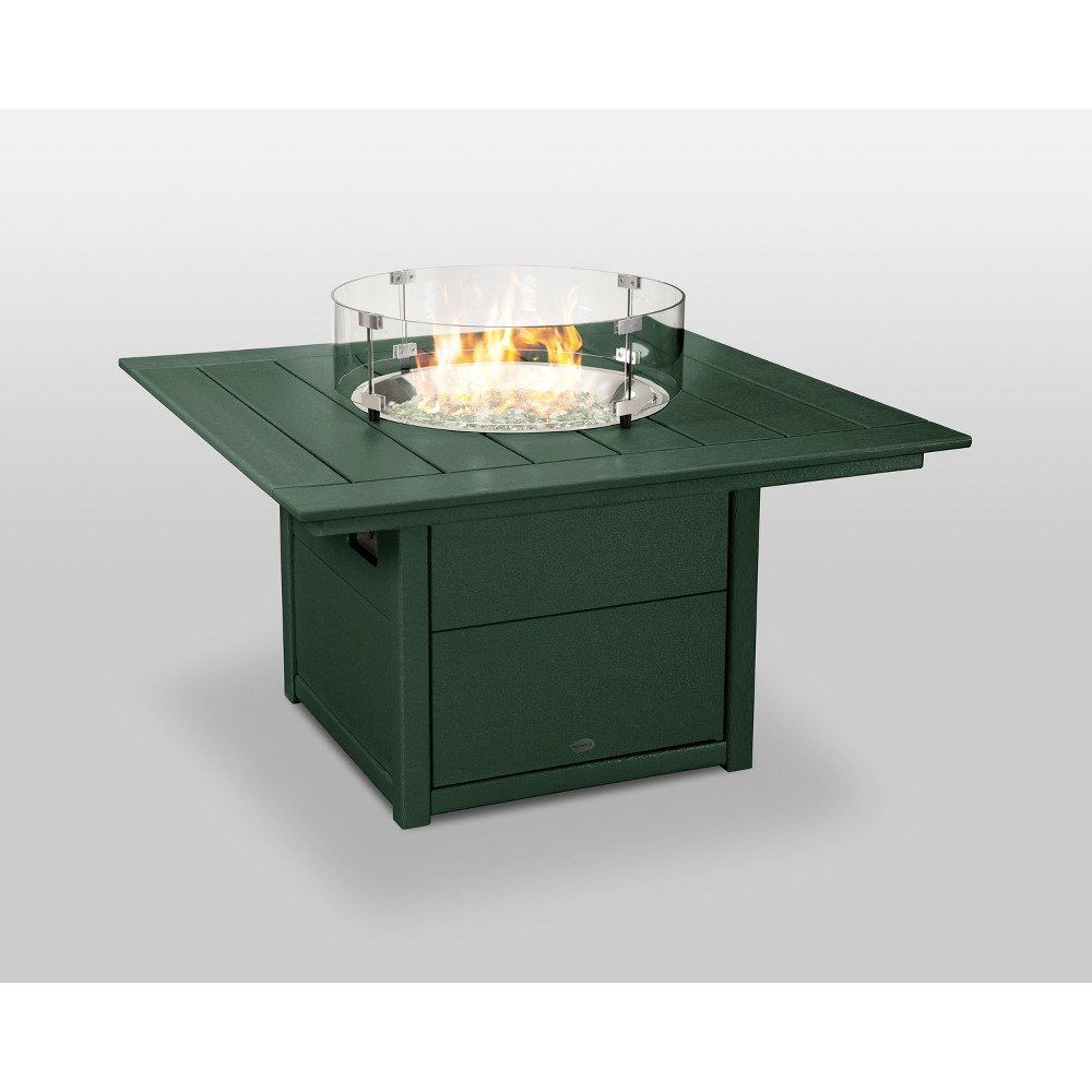 "Image of ""POLYWOOD 42"""" Fire Pit Table - Square - Green"""