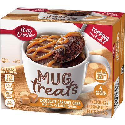 Betty Crocker Mug Treats Chocolate Caramel Cake Mix - 4ct/12.5oz