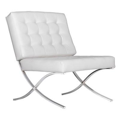 Studio Designs Home Atrium Bonded Leather Barcelona Chair