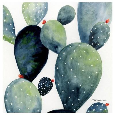 4pk Ceramic Watercolor Cactus Print Coasters - Thirstystone