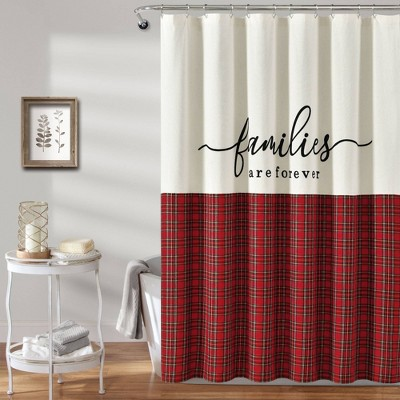 Families Are Forever Shower Curtain Red - Lush Décor