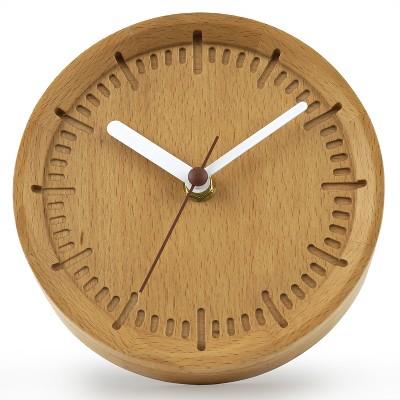 6  Solid Beech Wood Wall Clock Cream - Project 62™