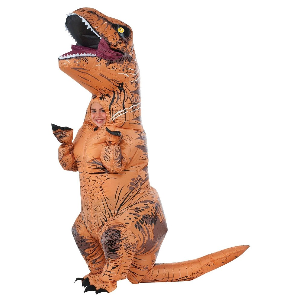 Halloween Jurassic World Kids' T-Rex Inflatable Costume - One Size, Adult Unisex, Brown