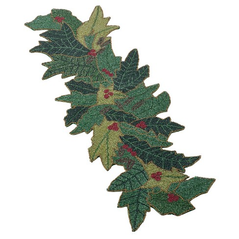 Green Holly Table Runner - Saro Lifestyle - image 1 of 2