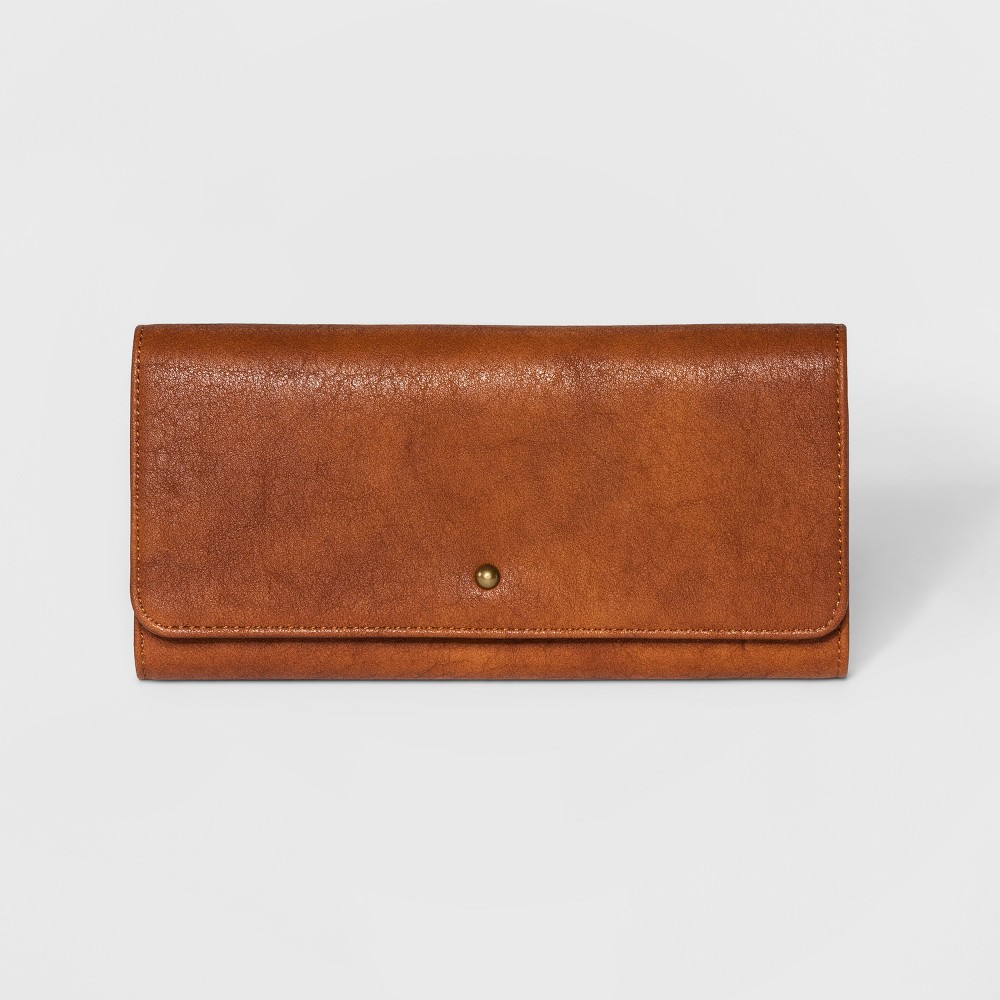 Flap Trifold Wallet - Universal Thread Cognac (Red)