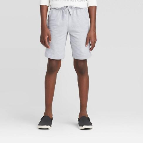 Boys' Pull-On Knit Shorts - Cat & Jack™ Gray - image 1 of 3