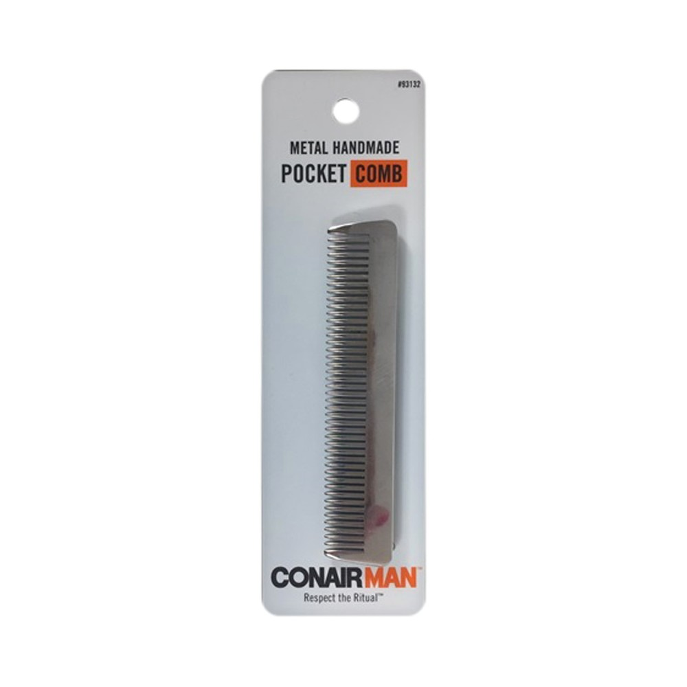 Conair Metal Pocket Comb Hair Appliance Accessories, Silver