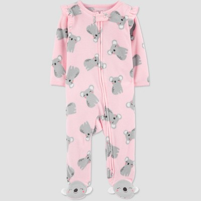 Baby Girls' Koala Fleece Sleep N' Play - Just One You® made by carter's Pink 3M