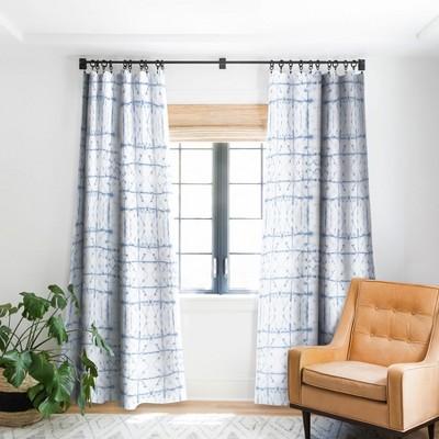 Jacqueline Maldonado Manifest Slate Blue Single Panel Blackout Window Curtain - Deny Designs