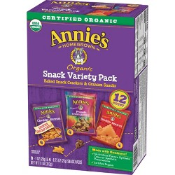 Annie's Homegrown Variety Snack Pack - 12ct