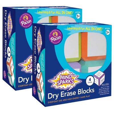 """8ct 3"""" Mind Sparks Dry Erase Blocks"""