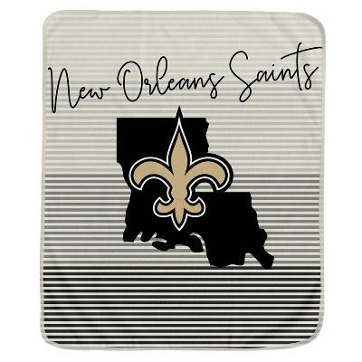 NFL New Orleans Saints Ultra Fleece State Stripe Blanket