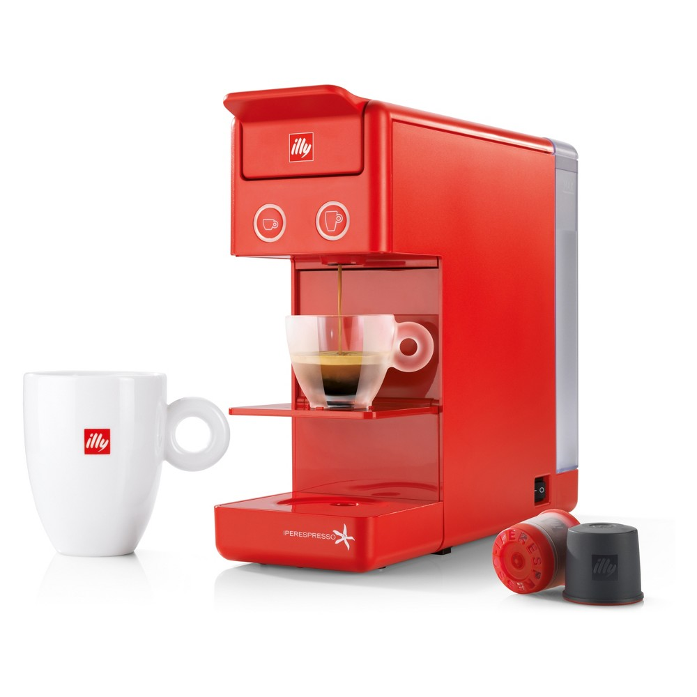 Image of illy Y3.2 Iperespresso Espresso & Coffee Machine - Red