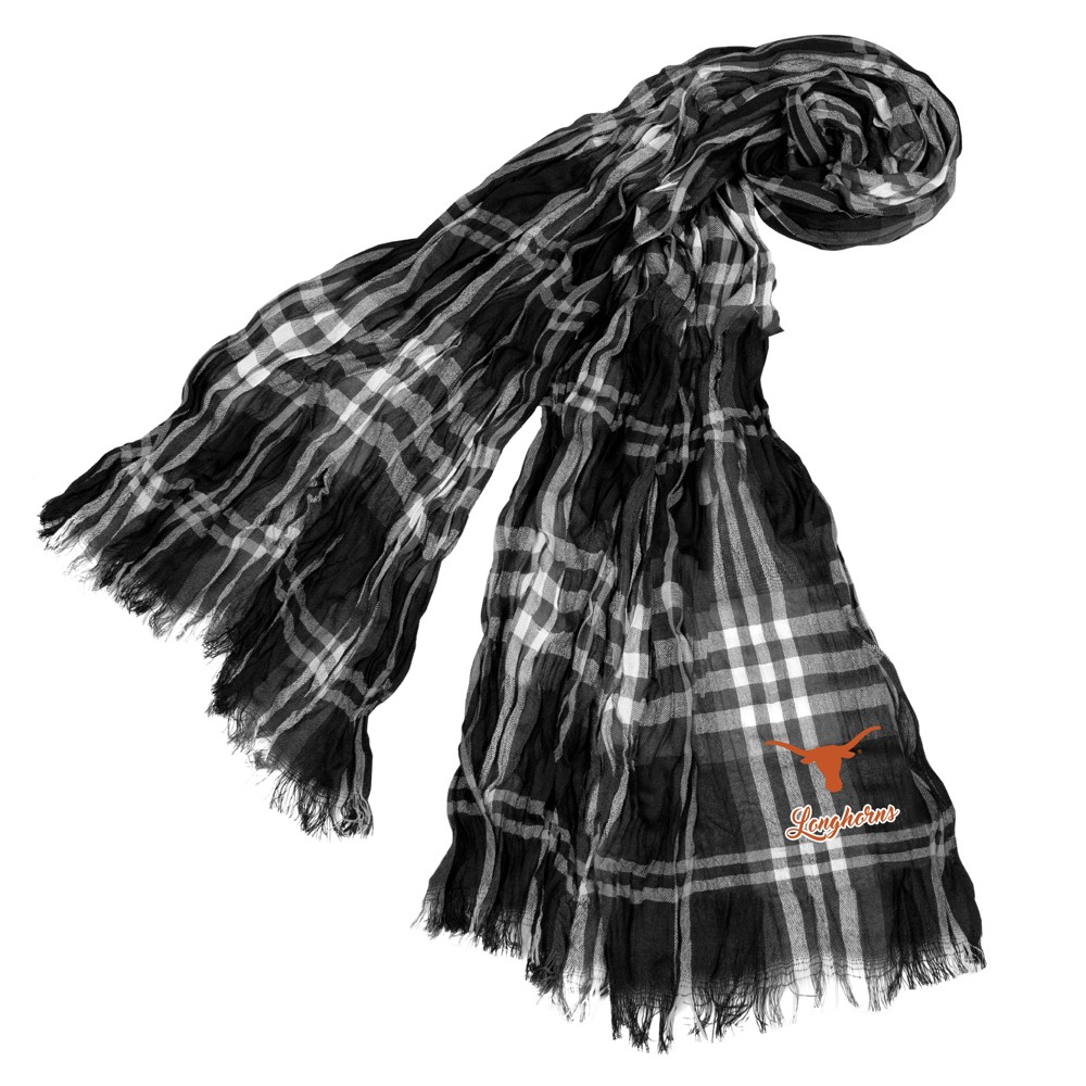 NCAA Texas Longhorns Little Earth Plaid Crinkle Scarf, Adult Unisex