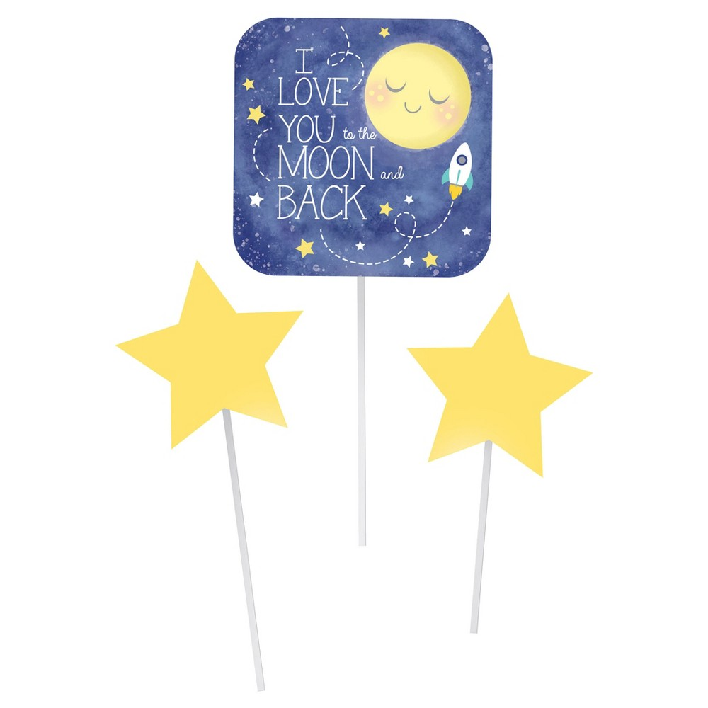 3ct To the Moon and Back Diy Centerpiece Sticks