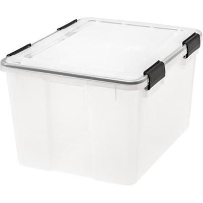 IRIS 4pk 46qt Weathertight Storage Box Clear