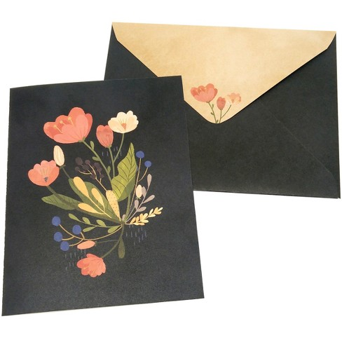 10ct Bouquet Blank Cards - Green Inspired - image 1 of 2