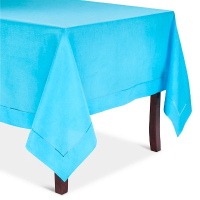 Hemstitched Tablecloth Turquoise (90  Round)