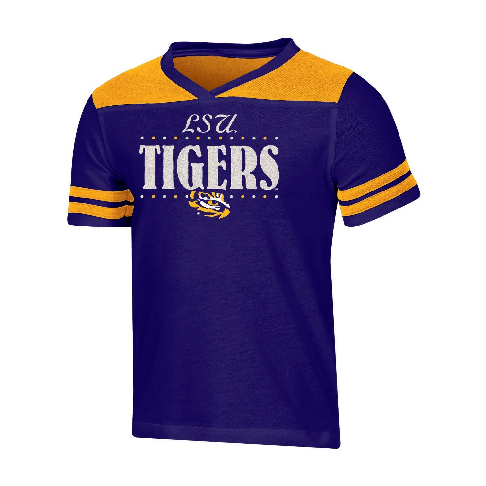 NCAA Girls' Heather Fashion T-Shirt Lsu Tigers - M, Multicolored