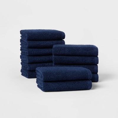 12pk Everyday Hand Towel Bundle Navy - Room Essentials™
