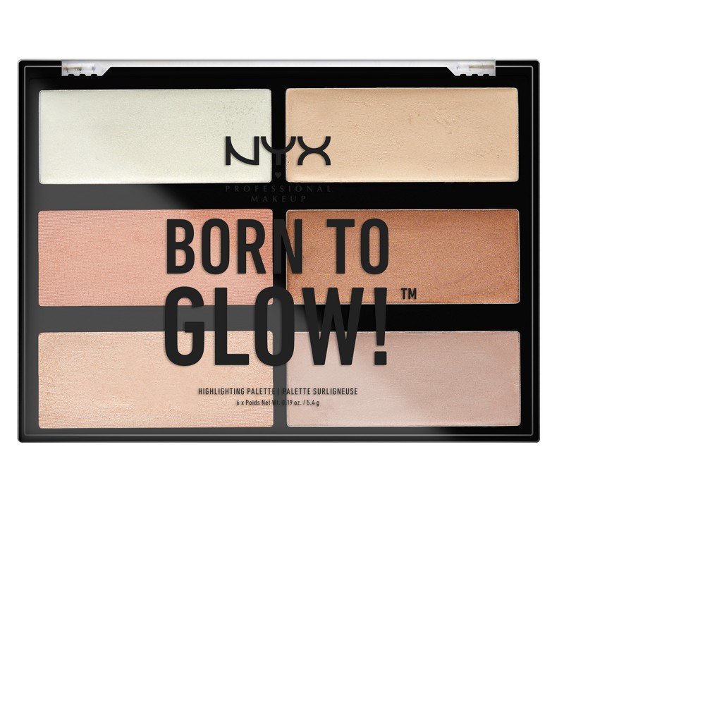Nyx Professional Makeup Born to Glow Highlghter Palette - 1.14oz, Neutral