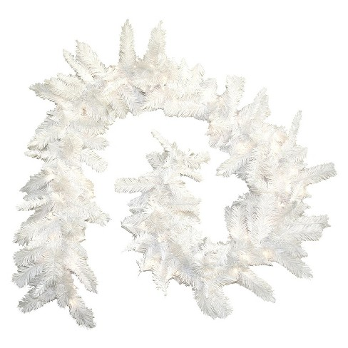 9 ft. Pre-Lit Christmas White Fir Garland - image 1 of 2