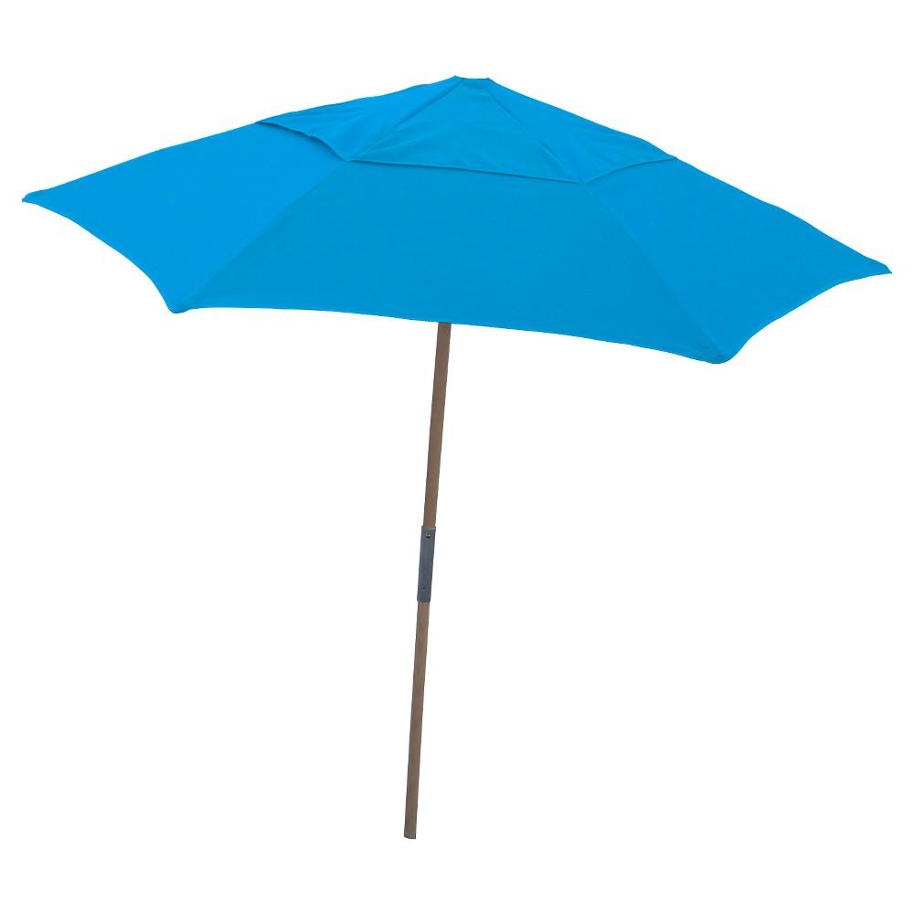 Image of FiberBuilt 7.5' Patio Beach Umbrella Spun Acrylic Pacific Blue