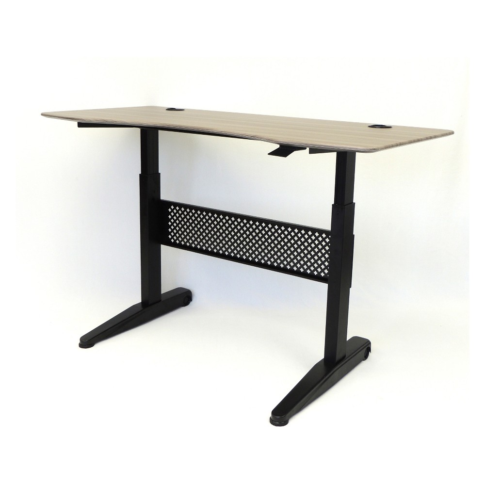 "Image of ""60"""" Height Adjustable Desk Driftwood - Boss"""