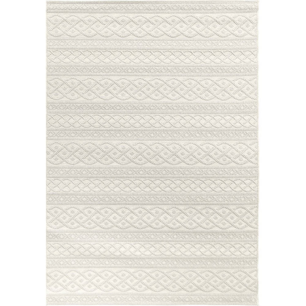 Orian Rugs Jersey Home Collection Indoor/Outdoor Organic Cable Area Rug Cream (Ivory)