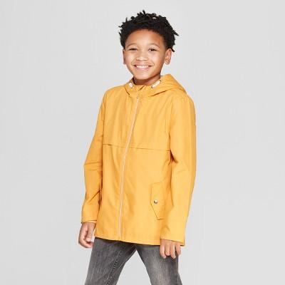Boys' Long Sleeve Anorak Jacket - Cat & Jack™ Yellow L