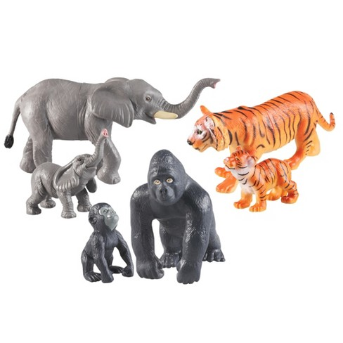 Learning Resources Jumbo Jungle Animals - Mommas and Babies - image 1 of 6