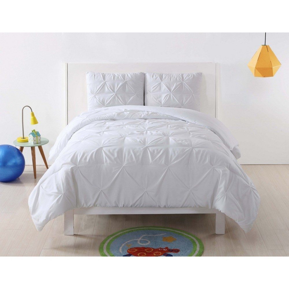 Image of Full/Queen Anytime Pleated Comforter Set White - My World