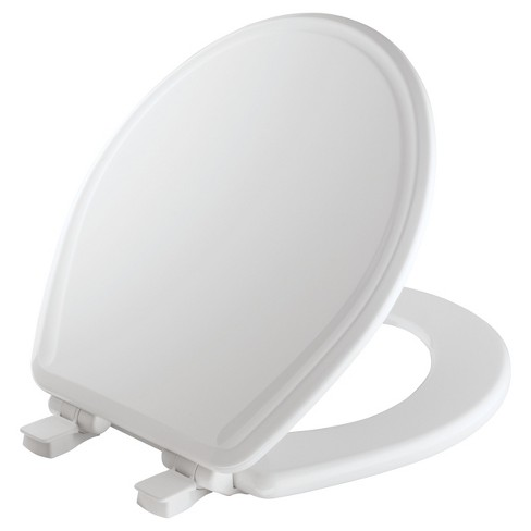 Mayfair Round Molded Wood Toilet Seat With Whisper Target