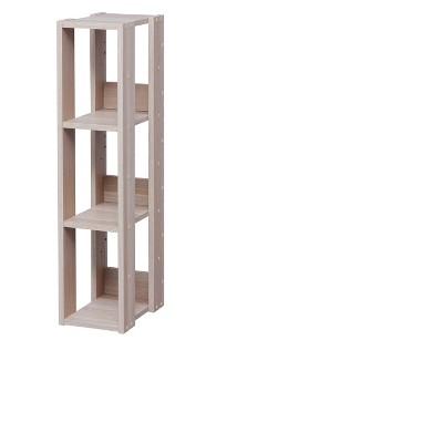 IRIS Slim Open Wood Rack Shelf Natural