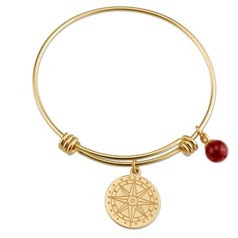 "Women's Stainless steel Compass Expandable bracelet - gold (8"") - image 1 of 2"
