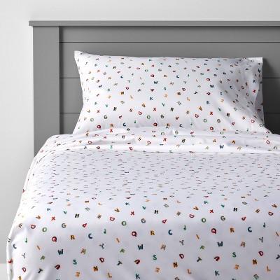Alphabet Microfiber Sheet Set - Pillowfort™