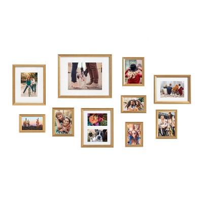 10pc Adlynn Frame Box Set Gold - Kate & Laurel All Things Decor