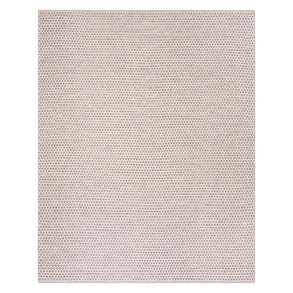8'X10' Geometric Woven Area Rug Charcoal/Peach/Ivory (Grey/Pink/Ivory) - Safavieh
