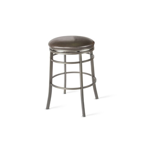 30 Milo Backless Swivel Bar Stool Gray Steve Silver Target