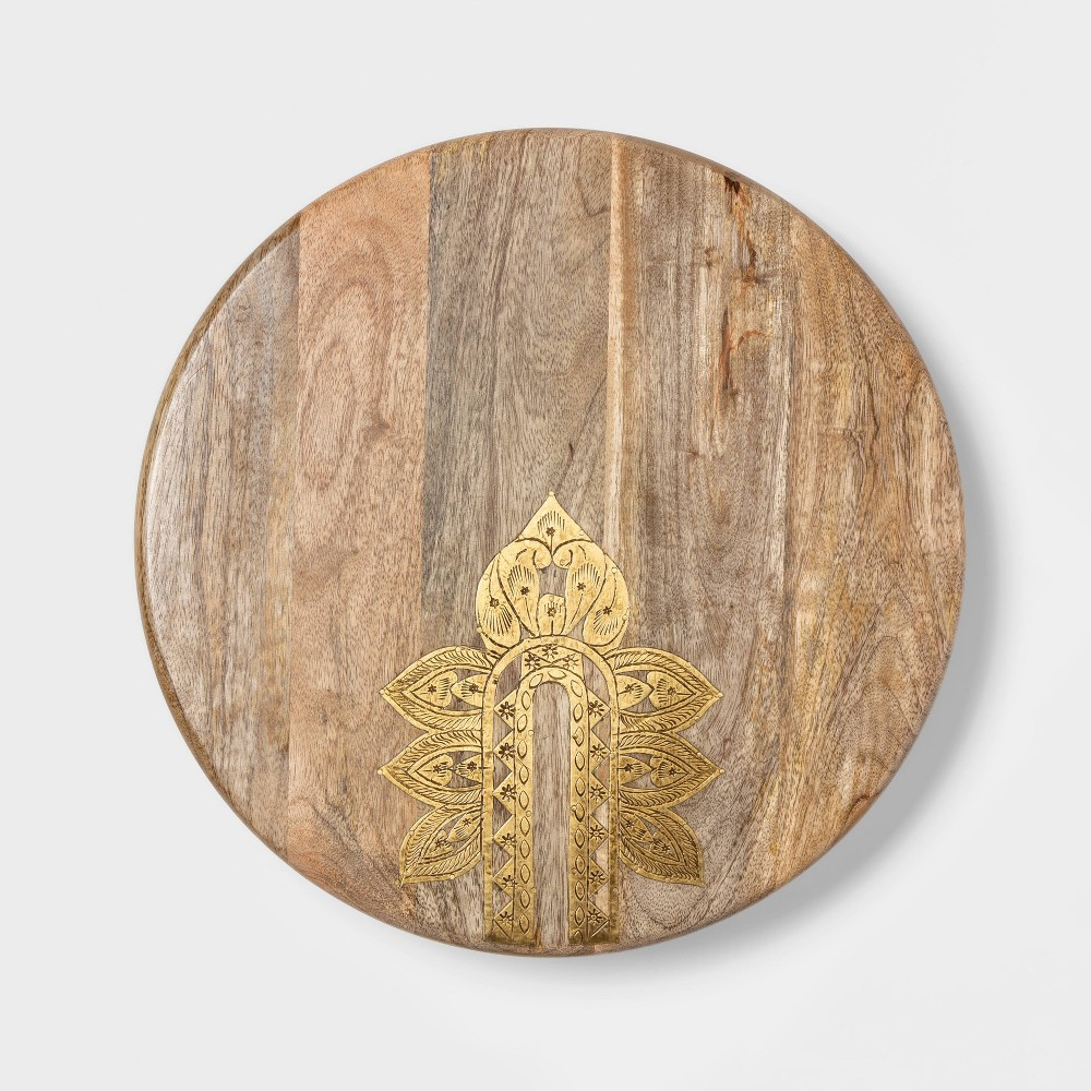 "Image of ""Cravings by Chrissy Teigen 16"""" Lazy Susan with Metal Decoration"""