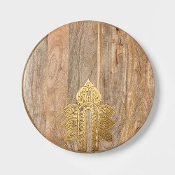 "Cravings by Chrissy Teigen 16"" Lazy Susan with Metal Decoration"