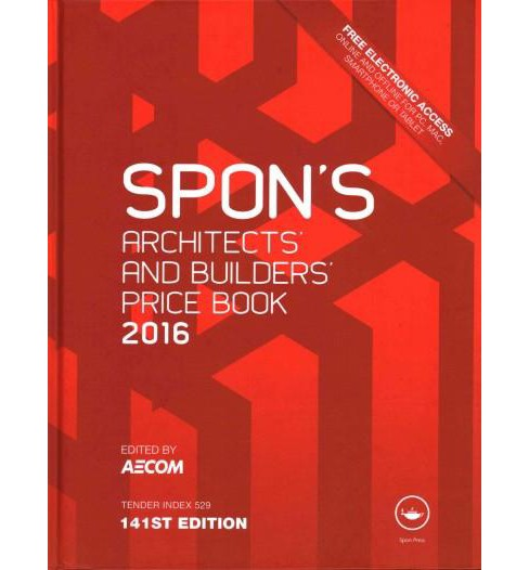 Spon's Architect's and Builders' Price Book 2016 (Hardcover) - image 1 of 1