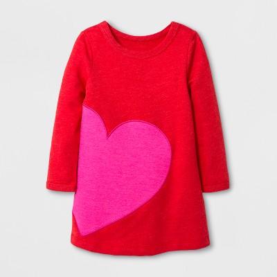 Toddler Girls' Valentine's Day A-Line Dress - Cat & Jack™ Red 18M