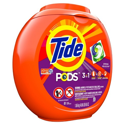 Tide Pods Laundry Detergent Pacs Spring Meadow - 81ct - image 1 of 4