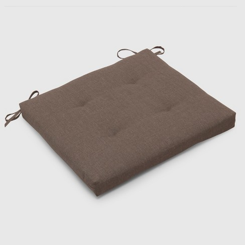 Outdoor Tufted Seat Cushion Taupe - Threshold™ - image 1 of 3