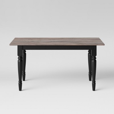60  Bridgewater Farmhouse Turned Leg Table Rectangle Charcoal - Threshold™