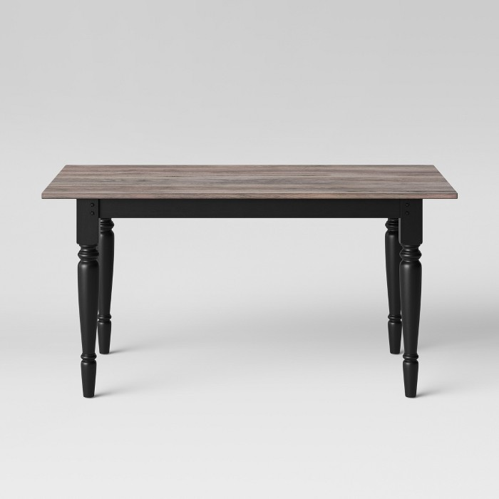 "60"" Bridgewater Farmhouse Turned Leg Table Rectangle Charcoal - Threshold™ - image 1 of 6"