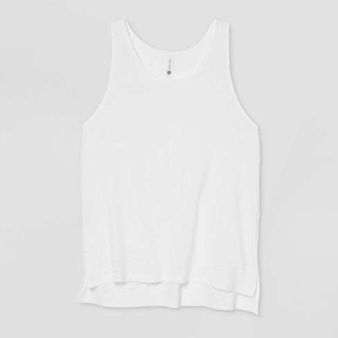 Women's Laser Cut Tank Top - All in Motion™ White XXL - image 1 of 2