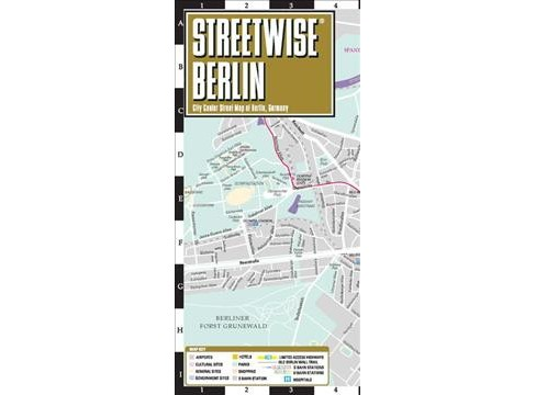 Streetwise Berlin Map : City Center Street Map of Berlin, Germany (Paperback) - image 1 of 1